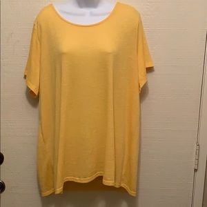 Torrid Yellow Shirt with Criss Cross Back